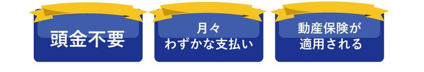 リースなら毎月約1万円のお支払いでいけますよ。